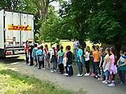Deti znitrianskej ZŠ Kniežaťa Pribinu si vyskúšali pozíciu šoféra kamiónu_3