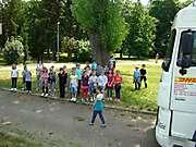 Deti znitrianskej ZŠ Kniežaťa Pribinu si vyskúšali pozíciu šoféra kamiónu_4